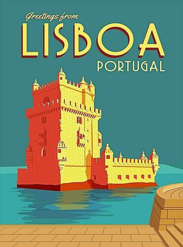 Lisbon Portugal Europe Retro Travel Home Wall Decor Art Poster Print