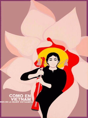 Como en Vietnam Vietnamese Asia Asian Vintage Travel Advertisement Art Poster