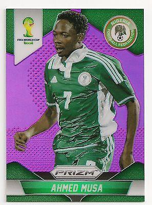 2014  154 Ahmed Musa   Nigeria   Panini Prizm Wc14   Purple  15 99