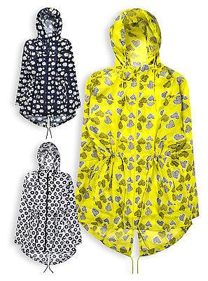 Ladies New Rain Jacket Womens Lightweight Hooded Parka Coat