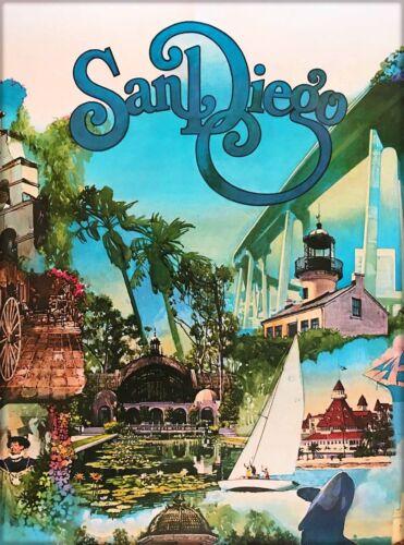San Diego California Vintage United States Travel Advertisement Art Poster Print