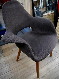 New Retro Timber Replica Brown Woven Eames Organic Dining Chairs Richmond Yarra Area Preview
