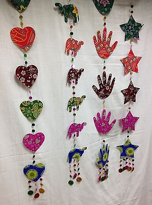 Hanging Mobile Garland/Christmas Decoration- Fairtade Star/Heart/Hand/Elephant