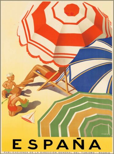 Spain Espana Madrid European Europe Vintage Travel Advertisement Poster Print