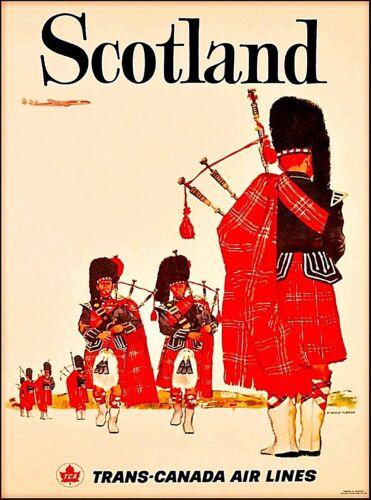Scotland Scottish Trans-Canada Vintage Travel Advertisement Art Poster Print