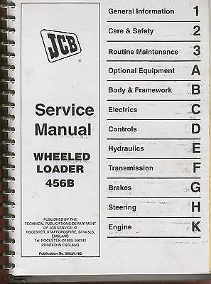 Jcb Shop Service Manual 456b Wheeled Loader
