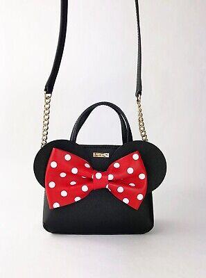 Kate Spade Disney Minnie Mouse Bow Mini Maise Crossbody Purse PXRU6512 Retail