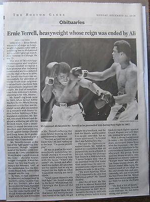 Obituary Boston Globe 12 22 2014 Ernie Terrell 75  Heavyweight Who Fought Ali