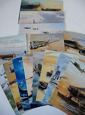 Large Lot Aviation Art Advertising Flyers Artist Robert Taylor 14 Brochures