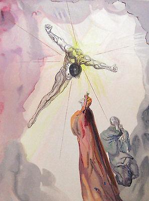 Salvador Dali Divine Comedy Woodcut, Paradise Canto 13 (14): Christ's Apparition