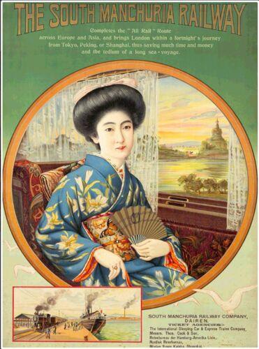 South Manchuria Railroad Europe China Asia Asian Travel Advertisement Poster