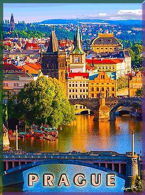 Prague Czech Republic Europe European Praha Advertisement Travel Art Poster