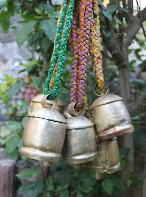Handmade Decorative Tin Metal Cow Bells Home Decor Vintage Antique Lot 6 Pcs ](Bulk Cowbells)