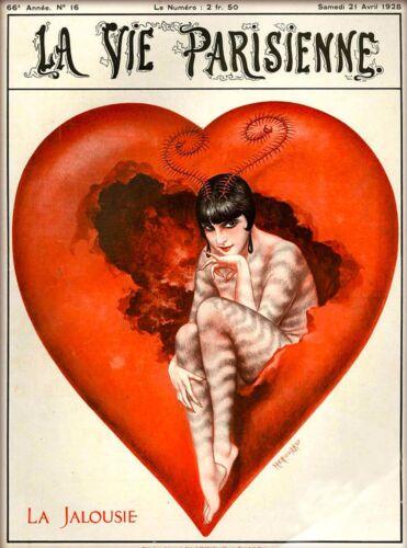 1928 La Vie Parisienne La Jalousie French France Travel Advertisemnt Poster
