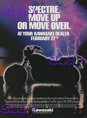 1982 Kawasaki Spectre Motorcycle Ad 1100 Vintage Magazine Advertisement 1089cc