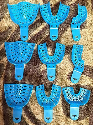 Dental Impression Trays Set Of 1 To 9 Large Mediumsmall Anterior 9pcs Set