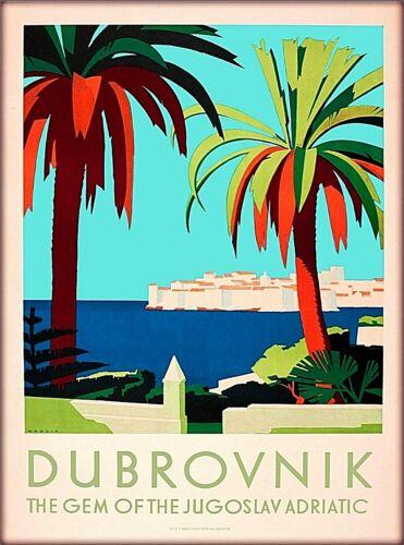 Dubrovnik Jugoslav Yugoslavia Croatia Gem Vintage Travel Art Poster Print