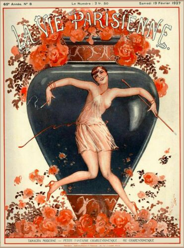 1927 La Vie Parisienne Tanagra Moderne French France Travel Advertisement Print