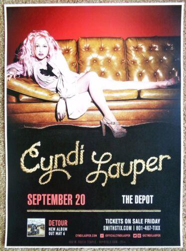 CYNDI LAUPER 2016 Gig POSTER Salt Lake City Concert Utah