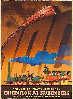 1935 Exhibition Nuremberg German Germany Vintage Travel Advertisement Poster