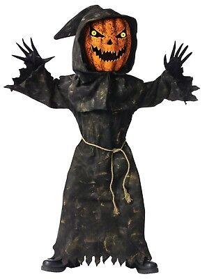 Fun World Bobble Head Pumpkin Spooky Child Boys Halloween Costume 130112