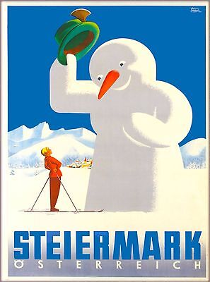 Steiermark Styria Osterreich  Austria Vintage Travel Advertisement Poster Print