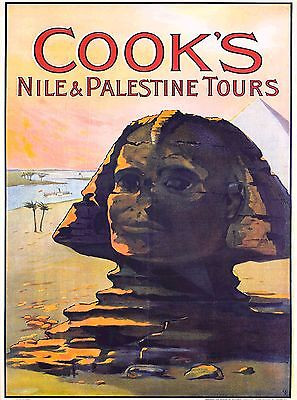 Cook's Nile & Palestine Tours Vintage Egypt Travel Advertisement Poster Print