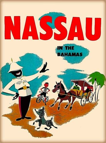 Bahamas Caribbean Nassau Vintage Travel Advertisement Art Poster Print