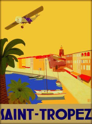 Saint Tropez France French Riviera Europe European Travel Advertisement Poster