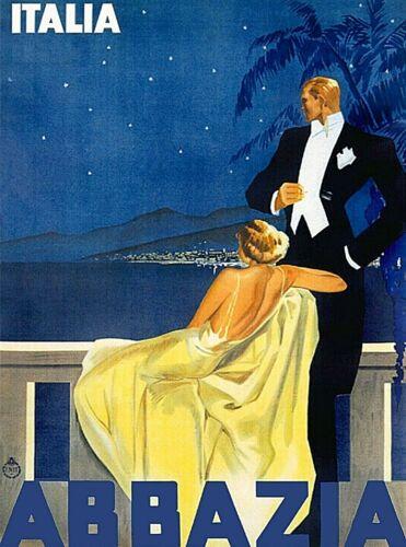 Abbazia Italy Italian Coast Europe Vintage Travel Advertisement Art Poster Print
