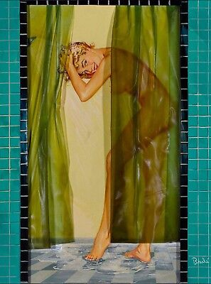1940s Pin-Up Girl In the Shower Picture Poster Print Vintage Art Pin Up ](Girl In The Shower)