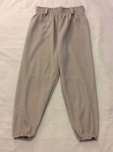 Augusta Sportswear Adult Gray Baseball Pants Sz Adult Large Drawstring Waist