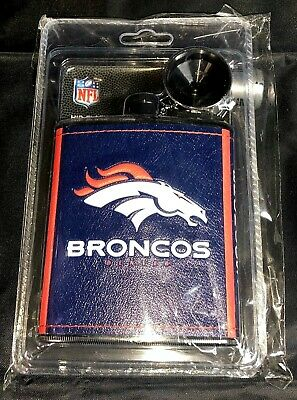 NFL Denver Broncos 7oz plastic hip flask collectible Broncos Hip Flask