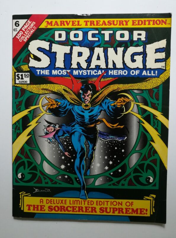 """""""Doctor Strange""""Stan Lee Marvel Treasury Edition #6 1975 Deluxe Limited Edition"""