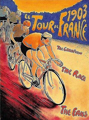 1926 Le Tour de France Bicycle Race Paris France Vintage Travel Art Poster Print
