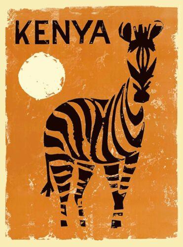 Kenya Zebra Africa Vintage African Travel Advertisement Art Poster Print