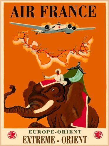 Europe Orient Extreme Orient Asia Vintage Travel Advertisement Art Poster Print