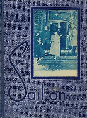 Yearbook Gaithersburg Maryland MD Gaithersburg High School Sail On 1954