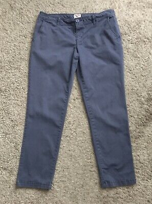Preppy School Supplies (MOSSIMO SUPPLY CO Womens Size 9 Blue Cropped Ankle Khaki Chino Pants 27