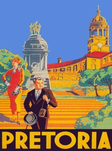 South Africa Pretoria African Vintage Travel Advertisement Art Poster Print