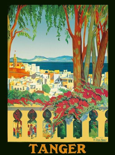 Tanger Tangier Morocco Africa Vintage Travel Advertisement Poster