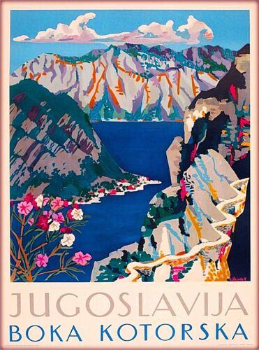 Boka Kotorska Jugoslav Yugoslavia Yugoslavian Croatia Vintage Travel Art Poster