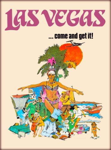 Las Vegas Come & Get It! Nevada United States Vintage Travel  Art Poster