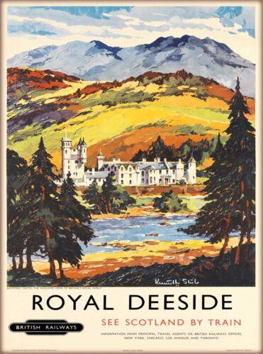 Royal Deeside Scotland Scottish Great Britain Travel Advertisement Art Poster 2