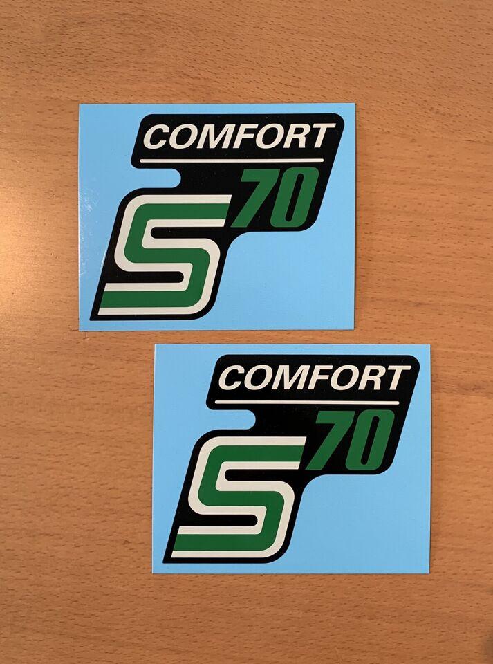 Wasserabziehbild Schiebebild SIMSON S70 Comfort 1-Set original DDR-Ersatzteil!
