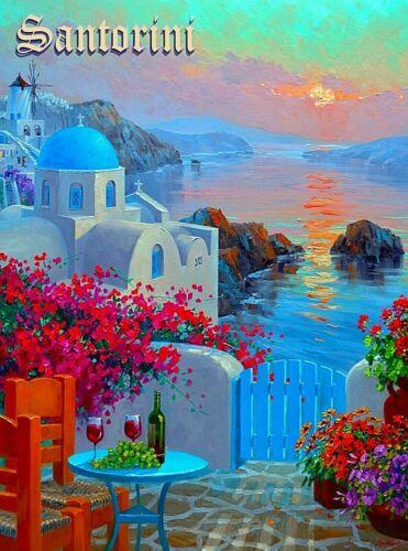 Santorini Greece Greek Isles By Mikki Senkarik Travel Art Print