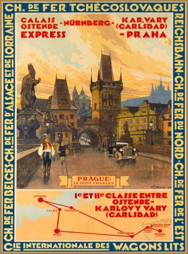 Prague Le Pont Charles Czech Republic Europe Praha Advertisement Travel Poster