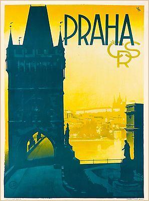 Prague Czech Republic Europe European Praha Advertisement Travel Art Poster 9