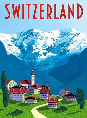 Suisse Swiss Switzerland Scenic Retro Travel Home Wall Decor Art Poster Print