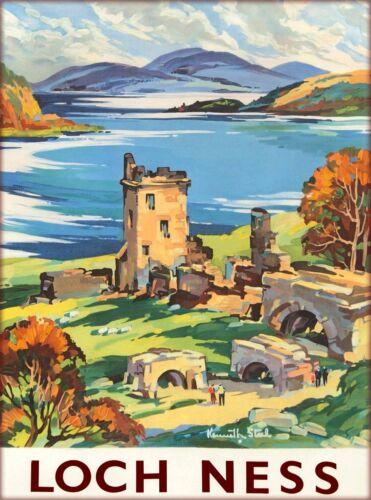 Loch Ness Lake Scotland Scottish Great Britain Travel Advertisement Art Poster 2